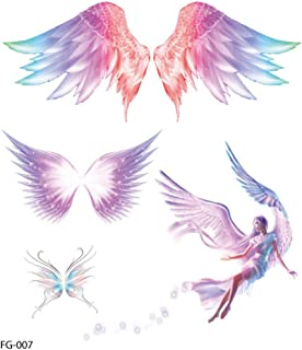 Akabsh_accessory 3D Colorful Creative Pattern Temporary Tattoos Stickers for Girls,Lifelike Mermaid Tattoo Paper