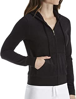 Juicy Couture Black Label Robertson Microterry Full Zip Hoodie (WTKJ96389) S/Pitch Black