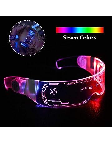 Occhiali LED Luminosi Futuristic Electronic Visor Glasses Illuminano Gli Occhiali per Le Esibizioni del Festival di Halloween heling896 Cyberpunk LED Visor Glasses