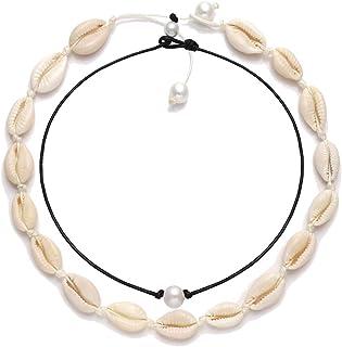 VUJANTIRY Cowrie Shell Choker Necklace for Women Hawaiian...