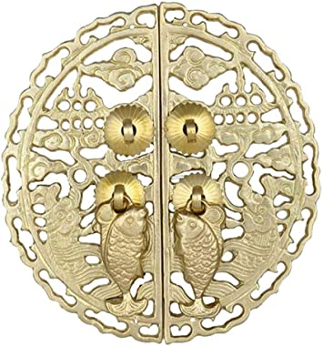 AWCPP Copper Door Knocker, Antique Door Handle Shoe Cabinet Door and Window Door Furniture Handles Two Patterns Pulls Cabinet