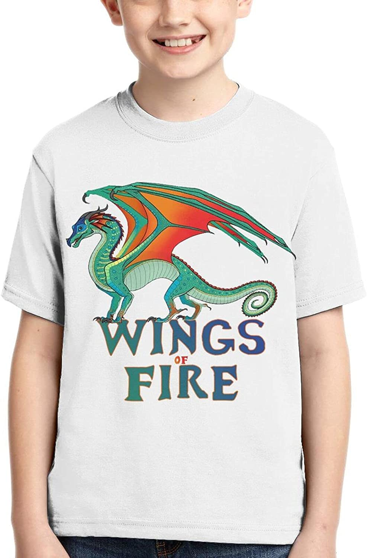 Wings_of_Fire Boy T-Shirt Kids Soft Short Sleeve Teen Round Tee Tops