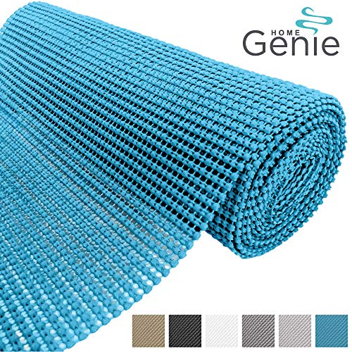 HOME GENIE Original PVC Drawer and Shelf Liner, Non Adhesive Roll, 17.5 Inch x 20 FT, Durable and Strong, Grip Liners for Drawers, Shelves, Cabinets, Pantry, Storage, Kitchen and Desks, Aqua