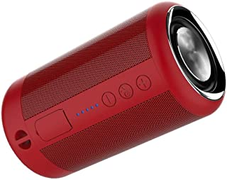 TDCQQ Wireless Speaker Bluetooth, 15W Bluetooth Portable Speaker, IP65 Waterproof Portable Wireless Speakers for Outdoor, TWS, 12+Hour Playtime, Built-in mic,Dustproof (Color : Red)