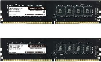 TEAMGROUP Elite DDR4 8GB Single 2666MHz PC4-21300 CL19 Unbuffered Non-ECC 1.2V UDIMM 288 Pin PC Computer Desktop Memory Module Ram Upgrade - TED48G2666C1901 - (1x8GB) Single