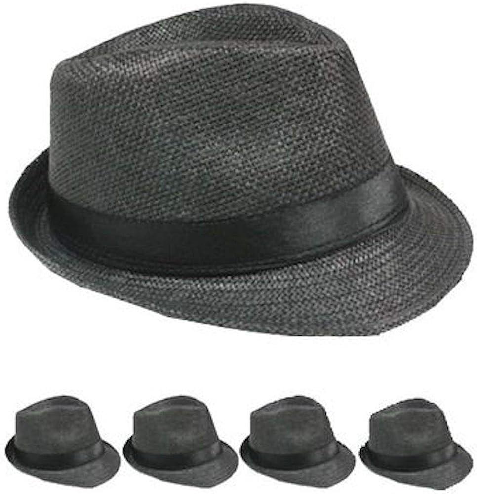 Fedora Hat Cuban Black High Structured Bulk Price 12 Pack