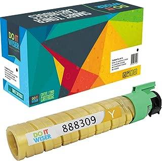 Do it Wiser Compatible Toner Cartridge Replacement for Ricoh Aficio SP C410DN SP C411DN SP C420DN | 888309 (15,000 Pages Yellow)