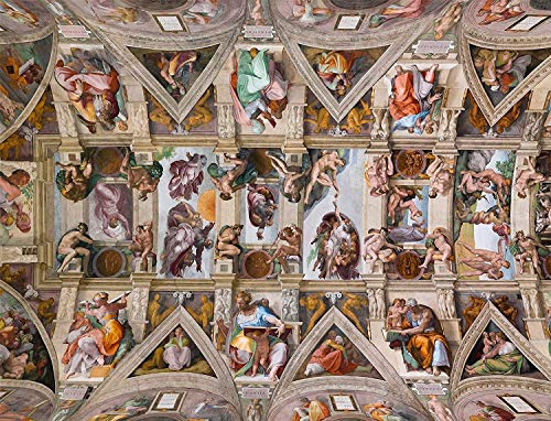 Sistine Chapel Ceiling By Michelangelo 1000 Pieces Wood Puzzles,Classic Educational Game Toys,Wall Art,Puzzles