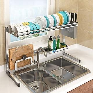 ZHTY Support de séchage de Vaisselle au-Dessus de l'évier Fournitures de Cuisine Étagère de Rangement Comptoir Économiseur...