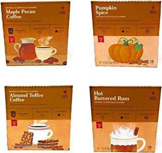Archer Farms K Cups Coffee Seasonal Fall Variety Pack of 72 Pods and 4 Flavors - Hot Buttered Rum, Pumpkin Pie, Almond Toffee, Maple & Pecan - Light Roast Limited Edition Coffee