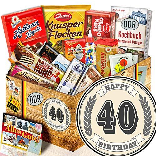 40 Geburtstag + Ostalgie Geschenkset + 40ter Geburtstag Geschenke