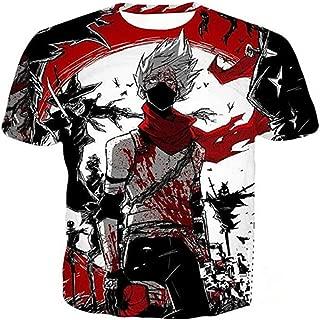 2018 Hot Anime NARUT O Uchiha Sasuke 3D Print Crewneck Casual Vest T-Shirt Tees -lU06
