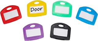 Uniclife Key Cap Tags, 24 Pack, 6 Assorted Colors Key ID Ring Covers with Blank Label