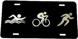 Best triathlon license plate Reviews