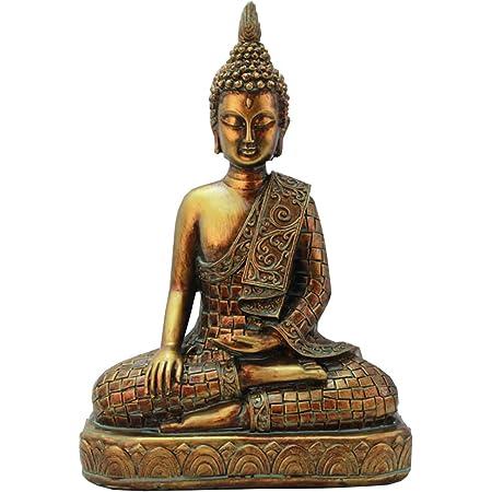 J Mmiyi Buda Figura De Meditación Sentada Para La India De Yoga Esculturas Meditando Interiores Y Decoración Del Hogar Home Kitchen
