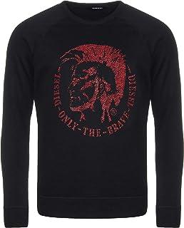 Diesel S-Orestes Black Logo Sweatshirt - Medium