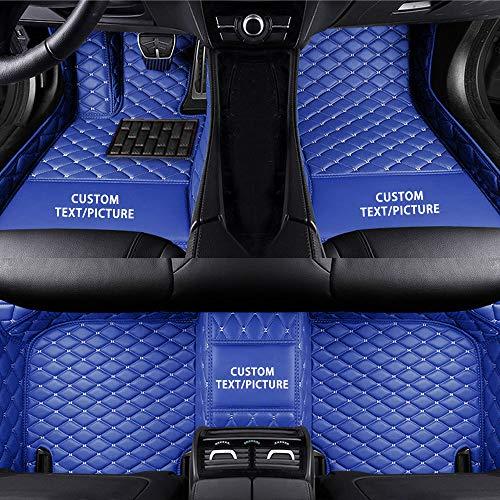 Maidao Alfombra del Piso del Coche para 99% Modelo de Coche Alfombra del a Medida Piso Auto,Antideslizante Impermeable Azul