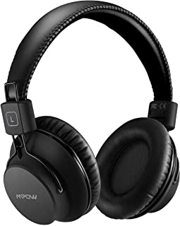 Mpow 059 Lightweight Version Bluetooth Headphones, Over-Ear Wireless Headset More Compact for Sport, Powerful Bass and Wired Mode for PC/Cell Phones - Black