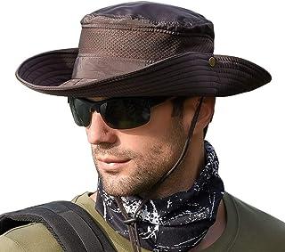 Grigio Scuro WANYING Unisex Protezione UV Cappello da Sole con Protezione del Collo 12cm Grande Tesa di attivit/à allAria Aperta
