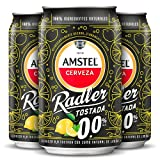 Amstel radler tostada 00 limón cerveza sin alcohol pack 24 latas 33cl - 7920 ml