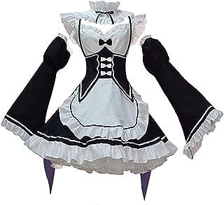 SAENSHING Japanese Anime Rem/Ram Maid Lolita Dress Outfit Cosplay Costume