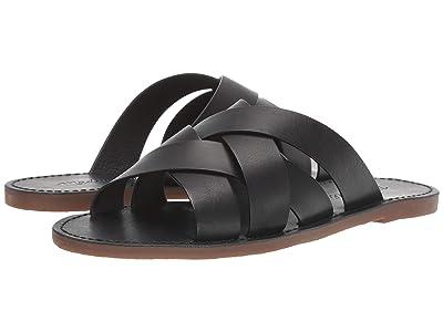 Madewell The Boardwalk Woven Slide Sandal (True Black) Women