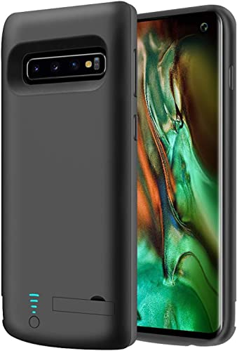 RUNSY Battery Case Compatible with Samsung Galaxy S10, 6000mAh Rechargeable Extended Battery Charging Case, External ...