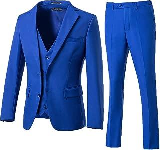 3 Pieces Suit Men Slim Fit Wedding Suit for Men Two Buttons Blazer Tux Vest & Trousers
