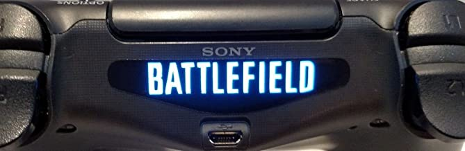 258stickers® PS4 Light Bar Decal Stickers - World Popular American Shooter Video Game Playstation 4 Battlefield Stickers