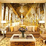3D Photo Wallpaper Painting Luxury Royal Palace Hotel Hall Living Room Sofa Tv Background Non-Woven Wall Mural Wallpaper 250(Ancho) X175(Alto) Cm