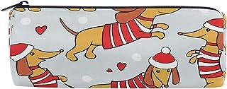 ZZKKO - Astuccio portapenne con cerniera, motivo cane bassotto, per ragazze, ragazzi e adulti