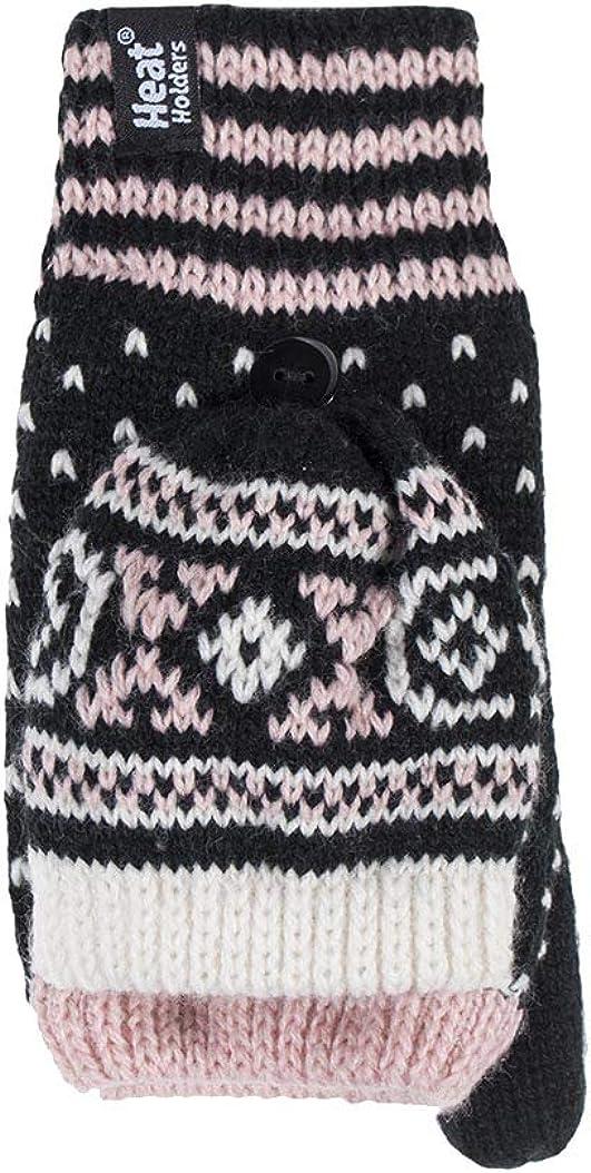 Heat Holders - Womens Warm Fleece Lined Thermal Winter Converter Mittens Gloves