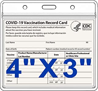 10 Pack Vaccination Card Protector 4 X 3(4.25 X 3.5) Inches, Transparent CDC Vaccine Card Protector Waterproof Resealable ...