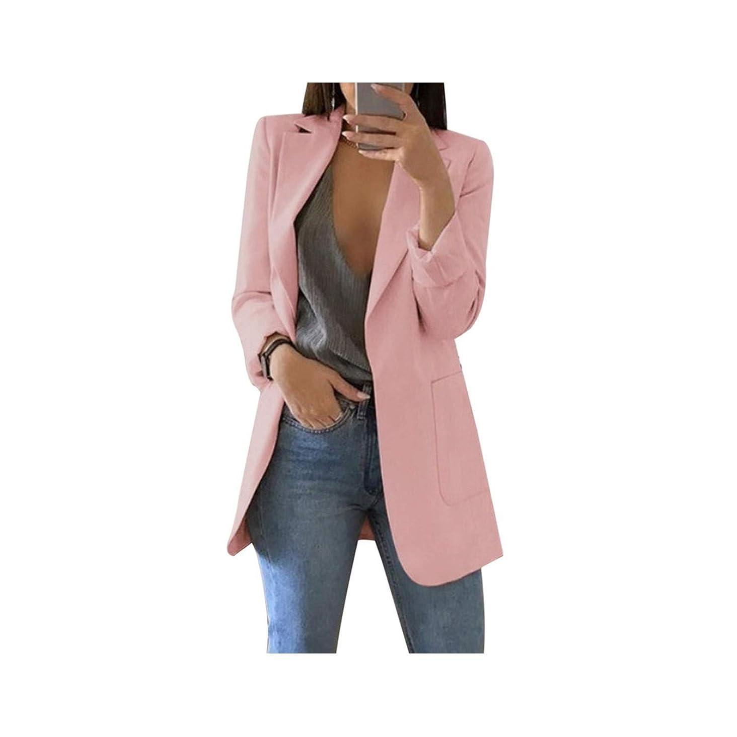 Women Solid Color Coat Lady Business Suit Jacket Suit Femme Blazer Slim Top
