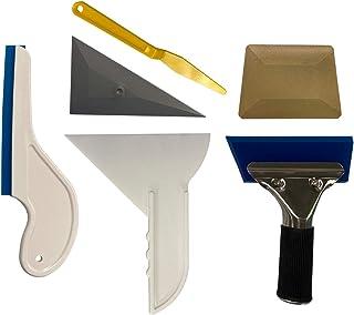 LEXEN 6 in 1 Window Tint Tools for Vehicle Film Including Window Squeegee, Hard Card, Gasket Scraper, Slammer, Side Swiper
