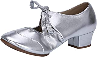 Driuankeji Womens Casual Walking Shoes Ladies Dancing Shoes Rumba Waltz Prom Ballroom Latin Ballet Shoes