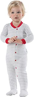 Cotton Dropseat Footie Onesie Pajamas for Toddler and Infant