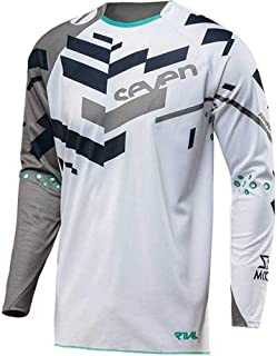 Pink Seven Motocross Jersey Men/Women MTB Mountain Bike Long Motorcycle Racing Cycling Clothing Makfacp (Color : Ivory, Size : XXXL)