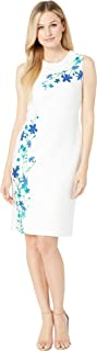 Calvin Klein Women's Flower Print Sheath Dress
