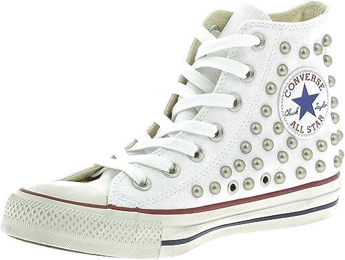 Converse CTAS Distressed Hi Sports Shoes White Studs