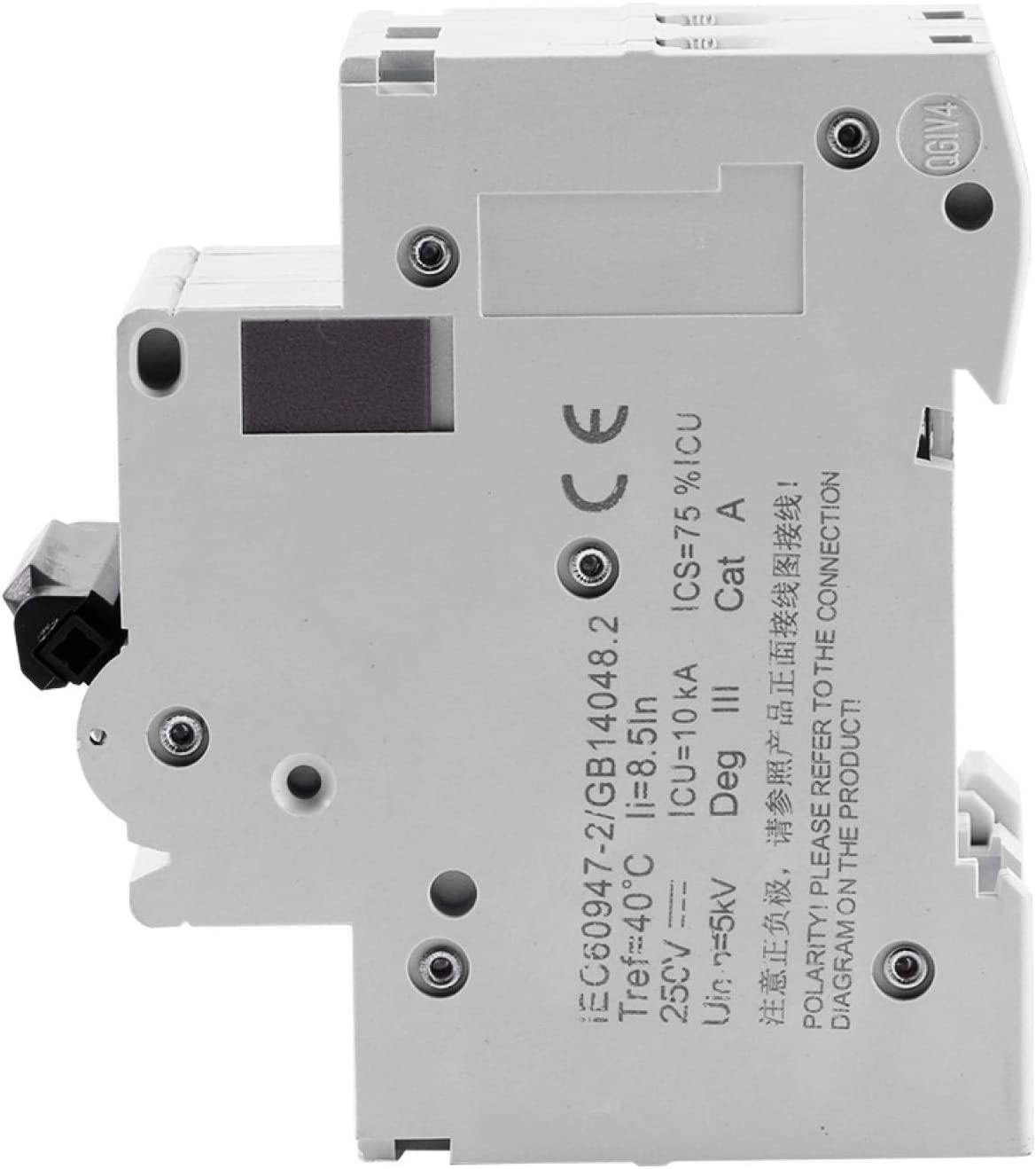 sistema de red 1 disyuntor solar de riel DIN de 250 v 16A disyuntor de bajo voltaje 16a//32a//63a para paneles solares sistema h/íbrido e/ólico y solar y muchos otros sistemas de CC