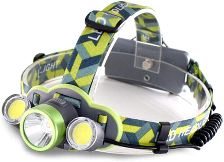 Headlights, Three Lamp Heads, Strong LED Headlights, USB Charging Headlights, Super Bright Industrial Heads, Working Headlights