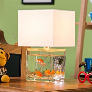 Retro E14 Desk Lamp Creative Fish Tank Modeling Glass Table Lamp For Bar Cafe Restaurant With Switch Bedroom Bedside Lamp , A