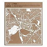 Perth Scherenschnitt Karte, Weiß 30x30 cm Papierkunst