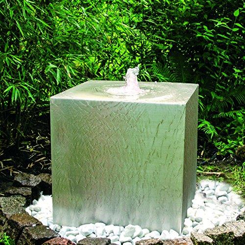 Köhko® Quellenbrunnen Cube 50 x 50 x 50 cm 26007 Springbrunnen mit PE-Becken