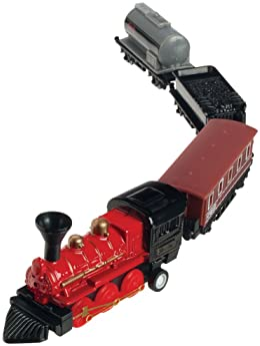 Toysmith 7041 Mini Pull-Back Train Set (Assorted Styles)