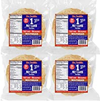 Mr. Tortilla 1 Net Carb Tortilla Wraps (96 Tortillas)   Keto, Low Carb, Low Calorie, Vegan, Kosher   (Multigrain)