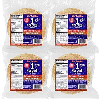 Mr Tortilla 1 Net Carb Tortillas  96 Tortillas  | Keto Vegan Kosher |  Multigrain