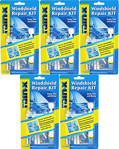 Rain-X 600001 Windshield cbMwm Repair Kit, 0.035 Oz (5 Pack)