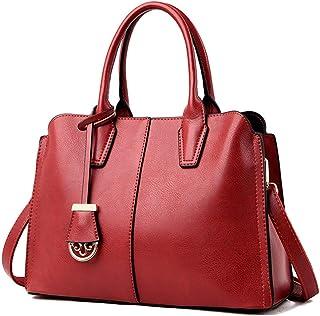 BUKESIYI Damen Tasche Umhängetasche Handtasche Frauen Klein Schultertasche Weekender Lack PU Leder CCDE77125